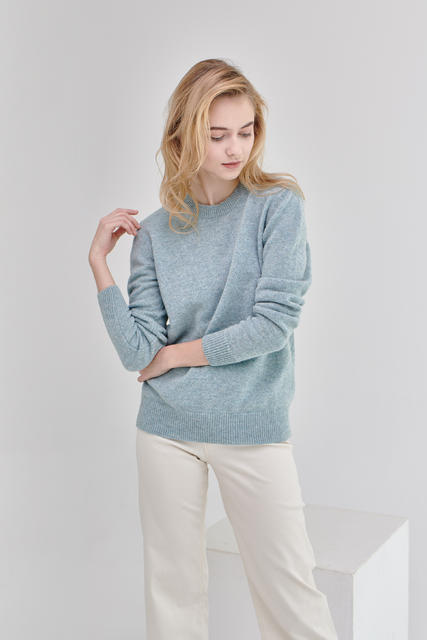 Damen Wollpullover Lambswool - Menthol - 5